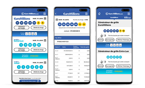 Application Android EuroMillions