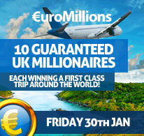 10 Guaranteed UK Millionaires on Friday 30th January 2015