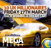 EuroMillions Mega Friday 27th March 2015