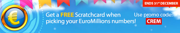 Get a free Scratchcard when you bet on EuroMillions